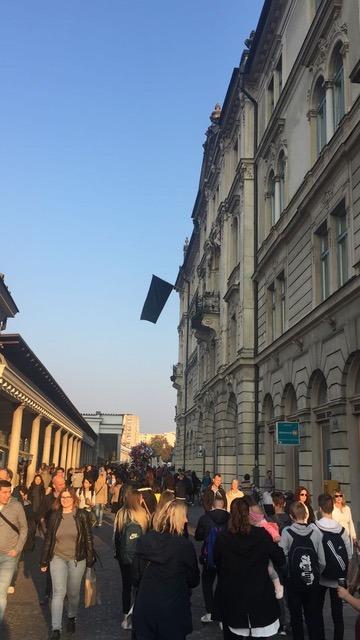 Zwarte vlaggen in Ljubljana 1