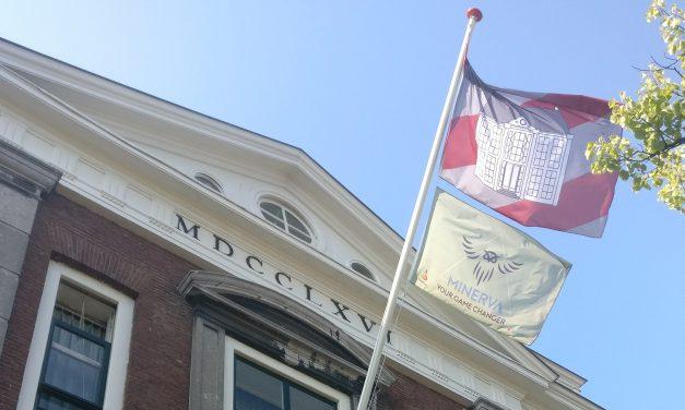 Vlaggen van Leidse studentenhuizen